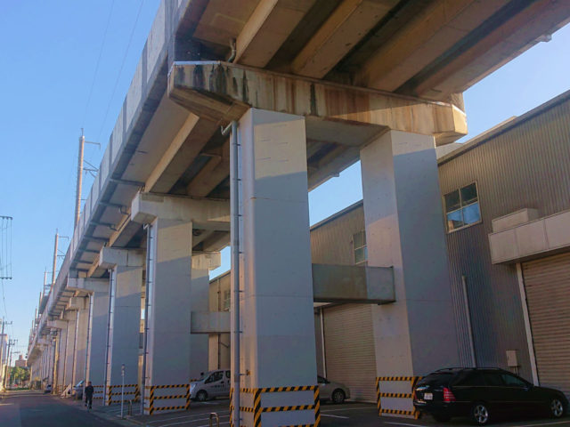 JR西日本山陽新幹線高架